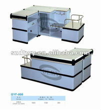Retail checkout counter widely used in the supermarket with high quality and fashion in design