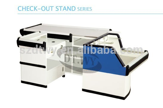 Supermarket design cashier checkout counter for sale